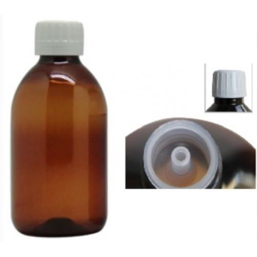Rjava PET plastenka s pokrovčkom  250 ml