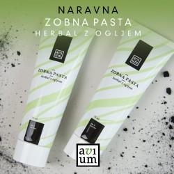 Zobna pasta Herbal z aktivnim ogljem